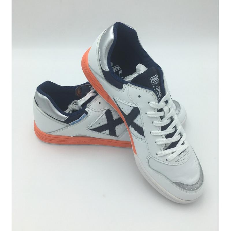 ... Zapatillas de futbol sala MUNICH CONTINENTAL Blanco -Marino ... 2e6619dec09dc