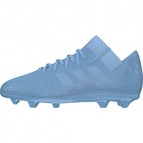 37773a5127fb ADIDAS NEMEZIZ MESSI FOOTBALL BOOTS 18.3 FG JUNIOR Spectral Mode color ash  blue