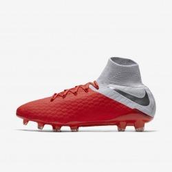 Botas de fútbol NIKE HYPERVENOM 3 PRO DF FG Color carmesí