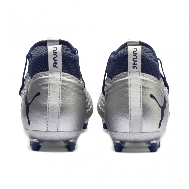 c4466e7dcbde ... Football Boots PUMA FUTURE 2.2 NETFIT FG AG Color puma silver-blue ...