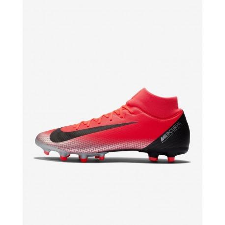 Botas de fútbol NIKE SUPERFLY 6 ACADEMY CR7 FG MG Color carmesi 0c0c51071dc7a