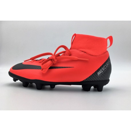 Botas de fútbol NIKE JR SUPERFLY 6 CLUB CR7 FG/MG Junior Color rojo
