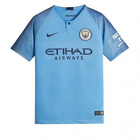9e6cb8932 Home MANCHESTER CITY FC Tshirt 18 19 Junior - NIKE