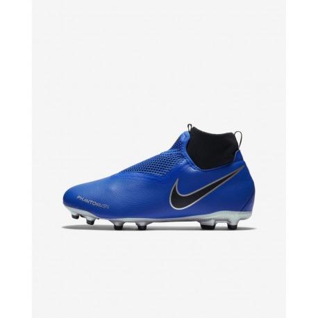 Botas de fútbol NIKE JR PHANTOM VISION ACADEMY DF FG/MG Junior Color Azul