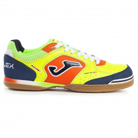 Zapatillas de Fútbol Sala JOMA TOP FLEX 816 Fluor-Azul INDOOR