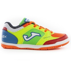 Indoor Football Shoes JOMA TOP FLEX 916 FLUOR-ORANGE INDOOR Kids