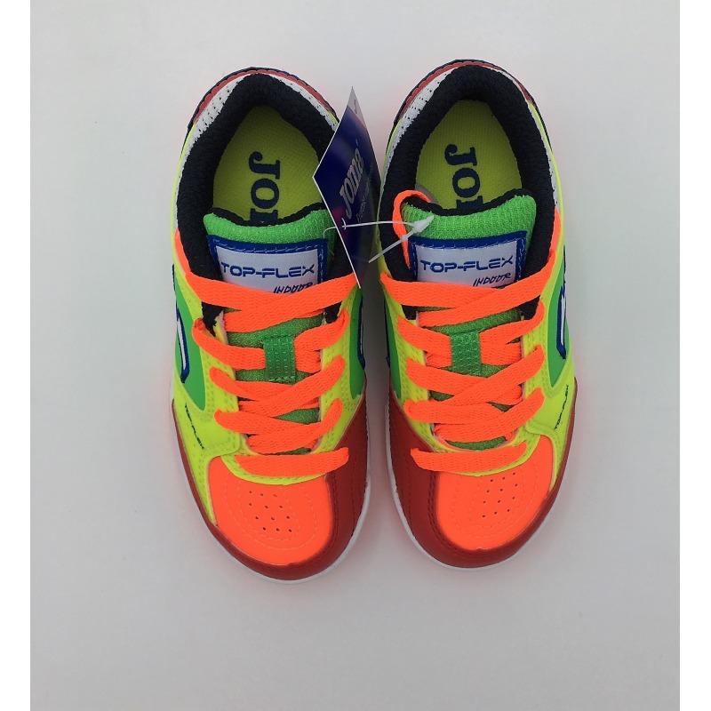 fdffce1c5 ... Indoor Football Shoes JOMA TOP FLEX 916 FLUOR-ORANGE INDOOR Kids ...