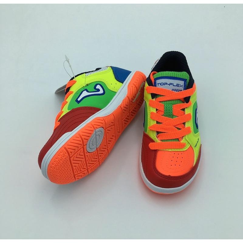 1b39d94e1 ... Indoor Football Shoes JOMA TOP FLEX 916 FLUOR-ORANGE INDOOR Kids