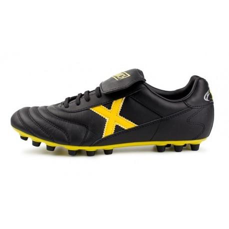 Botas de fútbol MUNICH MUNDIAL U25 Negro-Amarillo AG