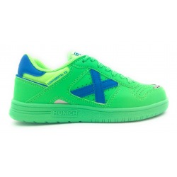 Zapatillas de fútbol sala MUNICH CONTINENTAL KID V2 Verde-Azul