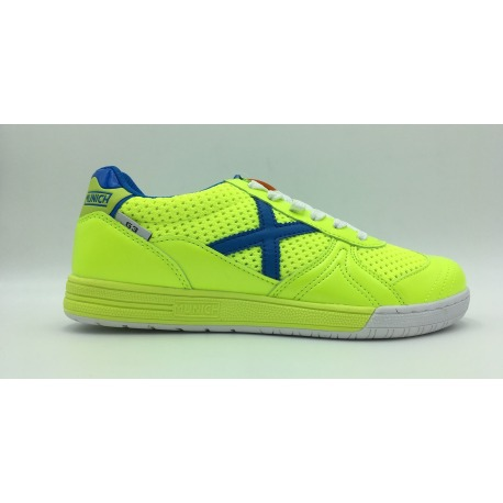 Indoor Football shoes MUNICH G-3 INDOOR Lime-Blue