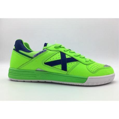 MUNICH CONTINENTAL Green-Blue Indoor Football shoes