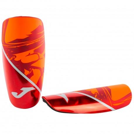 JOMA SPARTAN Shinguards red-orange-silver