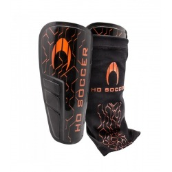 HO SOCCER Titan II black-orange Shinpads