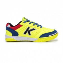 KELME PRECISION KIDS Lime-Blue Indoor Football Shoes