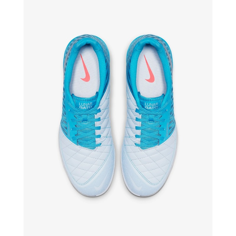 sports shoes 9f375 dec4b ... NIKE LUNARGATO II Blue Indoor Football Shoes ...