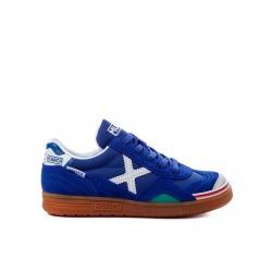 Zapatillas de Fútbol Sala MUNICH GRESCA KID Azul-Blanco