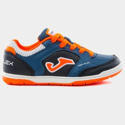 Zapatillas de Fútbol Sala JOMA TOP FLEX JR 905 Marino-Naranja INDOOR Junior