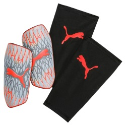 Puma Future 19.2 Shin guards grey dawn-nrgy red