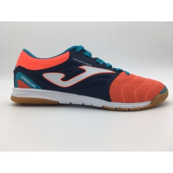 Joma Cancha 916 Navy-Orange Indoor Football Shoes