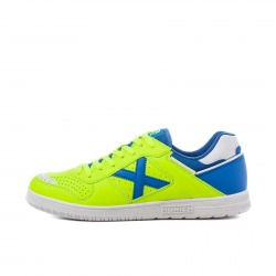 MUNICH CONTINENTAL V2 Yellow-Blue Indoor Football Shoes