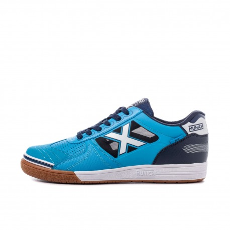 MUNICH G-3 INDOOR Blue Indoor Football Shoes