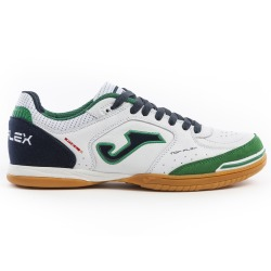 JOMA TOP FLEX 932 White-Green Indoor Football Shoes