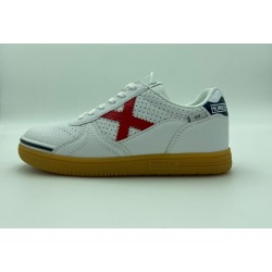 Zapatillas de Fútbol Sala MUNICH G-3 KID PROFIT Blanco-Rojo