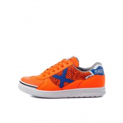 MUNICH G-3 KID INDOOR Orange Indoor Football Shoe