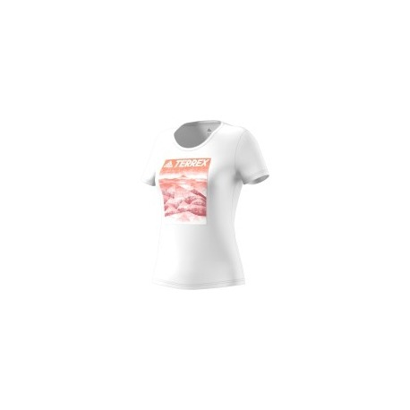 CAMISETA ADIDAS W MOUNTAIN TEE BLANCO