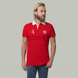 Polo COOLLIGAN Vintage DIE ROTEN 1900 short sleeve
