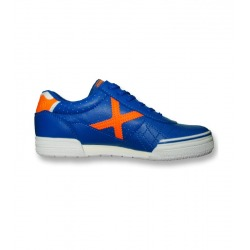 Zapatillas de fútbol sala MUNICH G-3 PROFIT Azul/Naranja