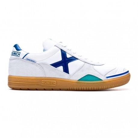 Zapatillas de fútbol sala MUNICH GRESCA Blanco/Azul