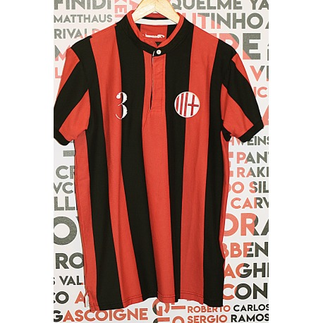 Camiseta retro de Fútbol ROSSONERI manga corta
