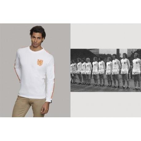 Camiseta COOLLIGAN Vintage HOLANDA AWAY 1.974 manga Larga
