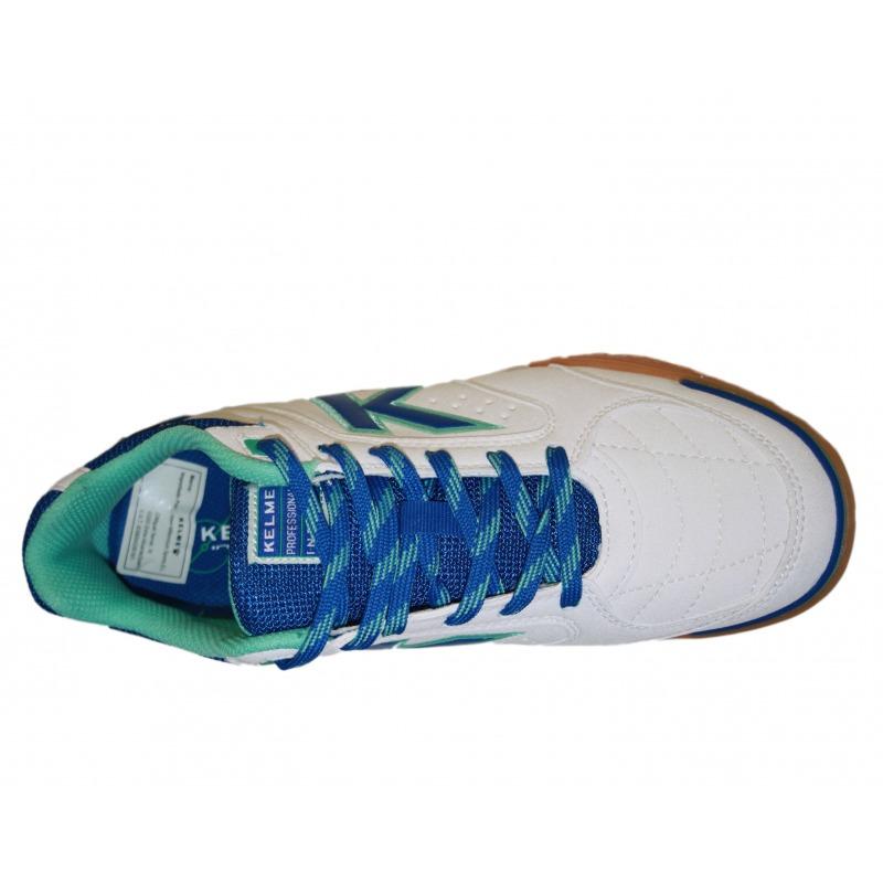 6f34281d2d5 ... Kelme Precision White   Royal Indoor Football Shoe ...
