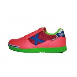Zapatillas de futbol sala MUNICH G-3 SHINE Rosa/Verde/Azul