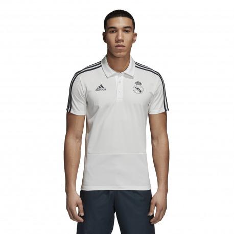 POLO REAL MADRID 18/19 Blanco - Adidas