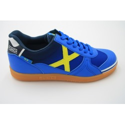 Zapatillas de futbol sala MUNICH G-3 INDOOR Azul/Amarillo