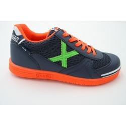 Zapatillas de fútbol sala MUNICH G-3 INDOOR Marino/Verde Kids