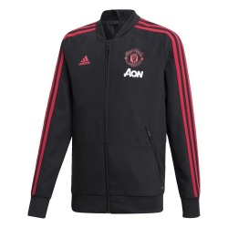 CHAQUETA del MANCHESTER UNITED 18/19 Junior, Color negro