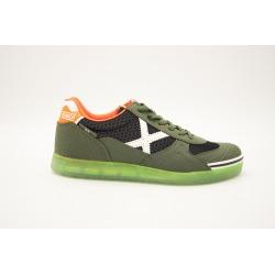 Zapatillas de fútbol sala MUNICH G-3 GLOW Verde/Blanco Kids