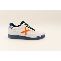Zapatillas de fútbol sala MUNICH G-3 GLOW Blanco/Naranja Kids