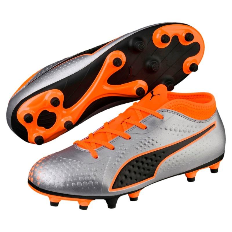 ... Football Boots PUMA ONE 4 Syn FG Junior Silver-Orange ... fbe217ce1