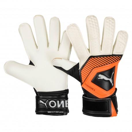 GLOVES goalkeeper PUMA ONE GRIP 3 RC white-orange