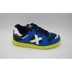 Zapatillas de futbol sala MUNICH CONTINENTAL KID V2 azul-blanco