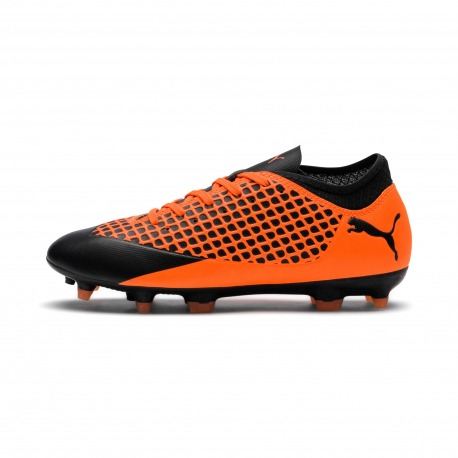Botas de Futbol PUMA FUTURE 2.4 FG/AG Junior color naranja-negro