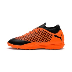 Botas de Futbol PUMA FUTURE 2.4 TURF Junior color naranja-negro