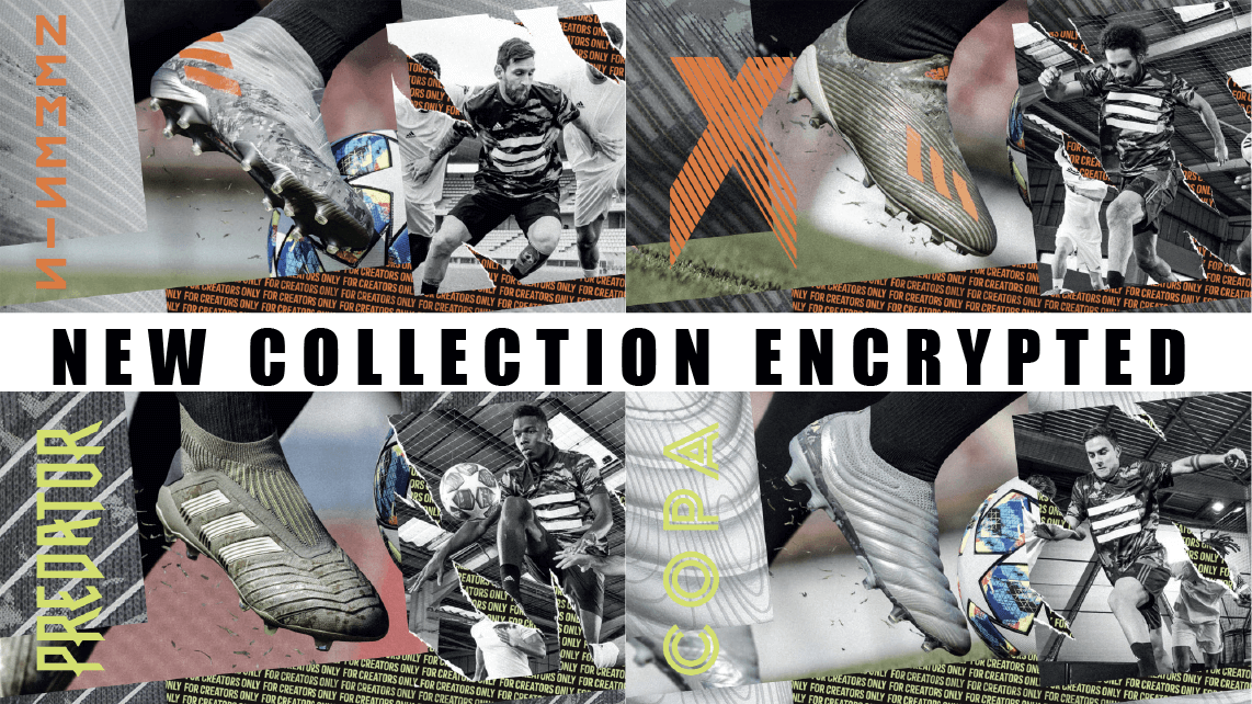 New collection encrypted Adidas